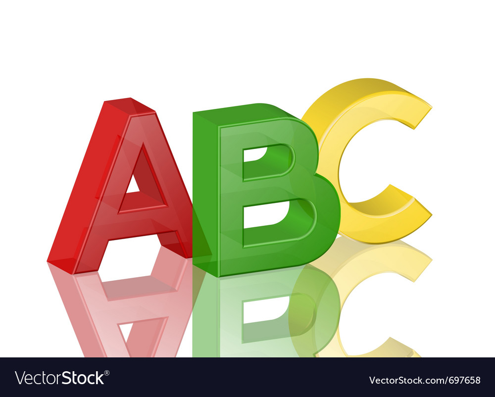 Colorful transparent alphabet abc vector | Price: 1 Credit (USD $1)