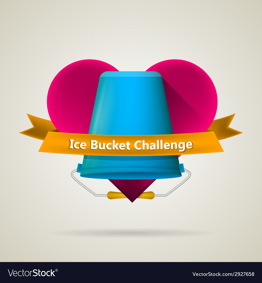 Conceptual for ice bucket challenge vector | Price: 1 Credit (USD $1)
