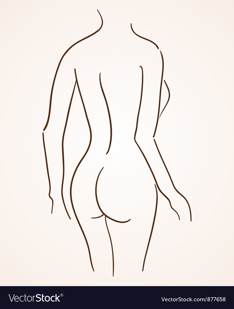 Female body silhouette vector | Price: 1 Credit (USD $1)