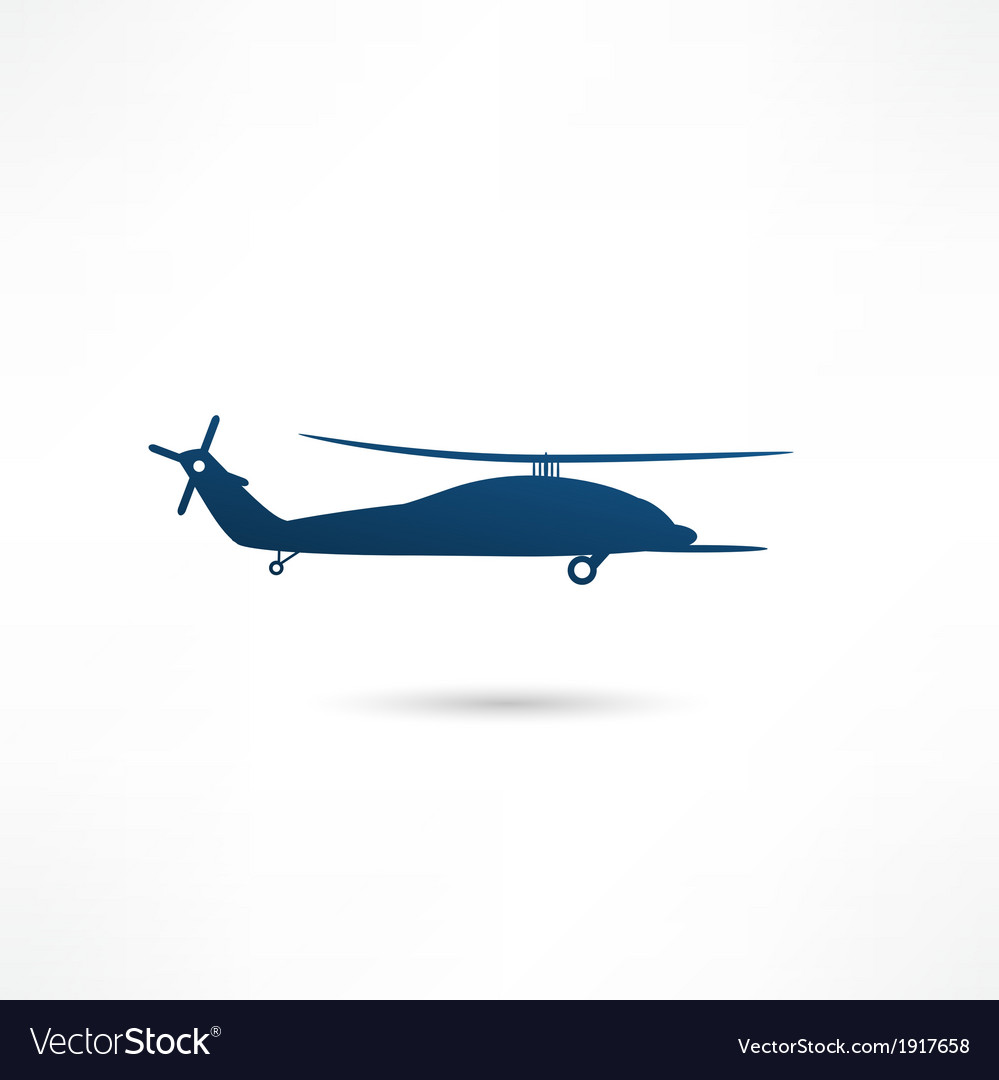 Helicopter - vector | Price: 1 Credit (USD $1)