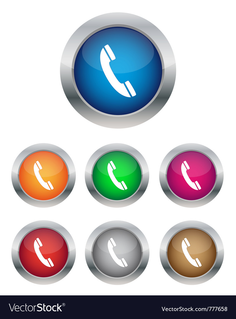 Phone support buttons vector | Price: 1 Credit (USD $1)