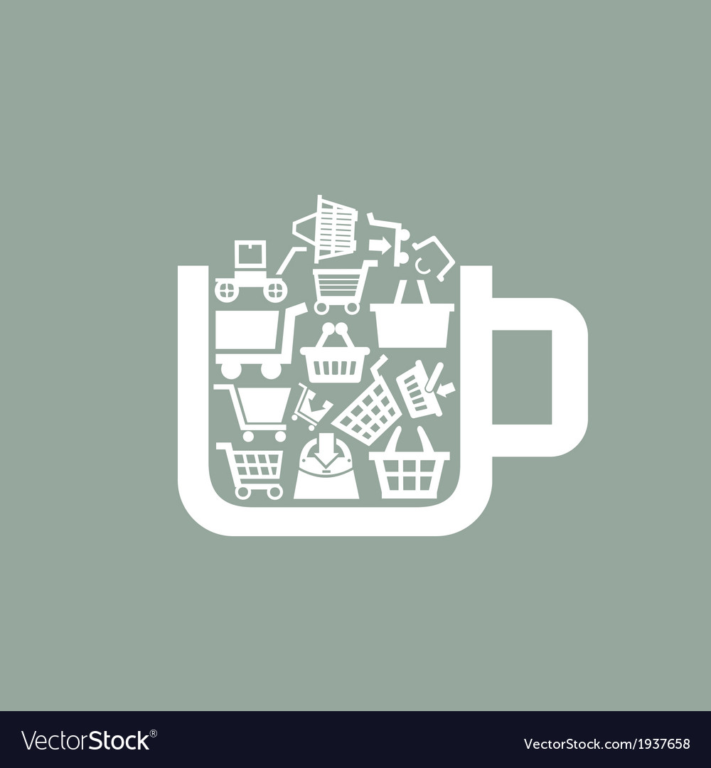 Sale a cup vector | Price: 1 Credit (USD $1)