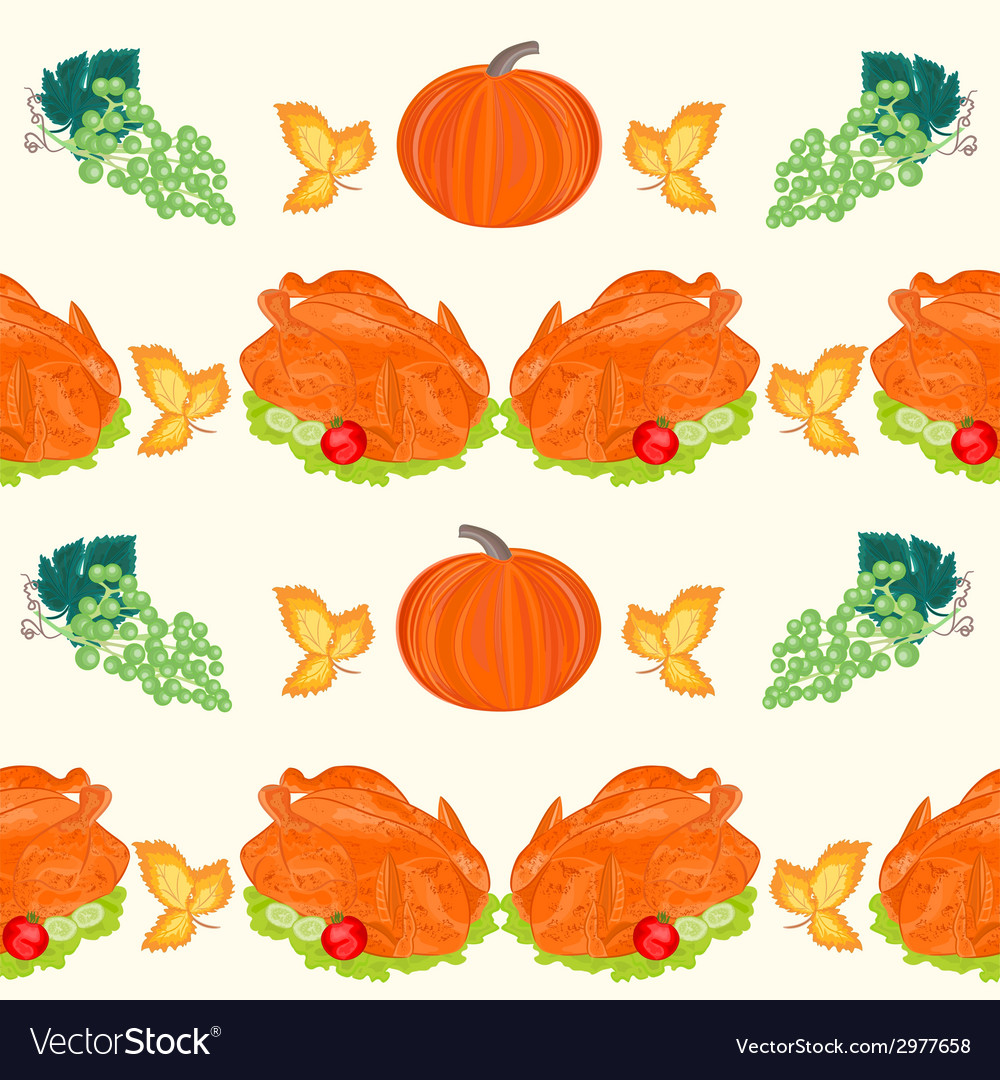 Seamless texture celebratory food turkey vector | Price: 1 Credit (USD $1)