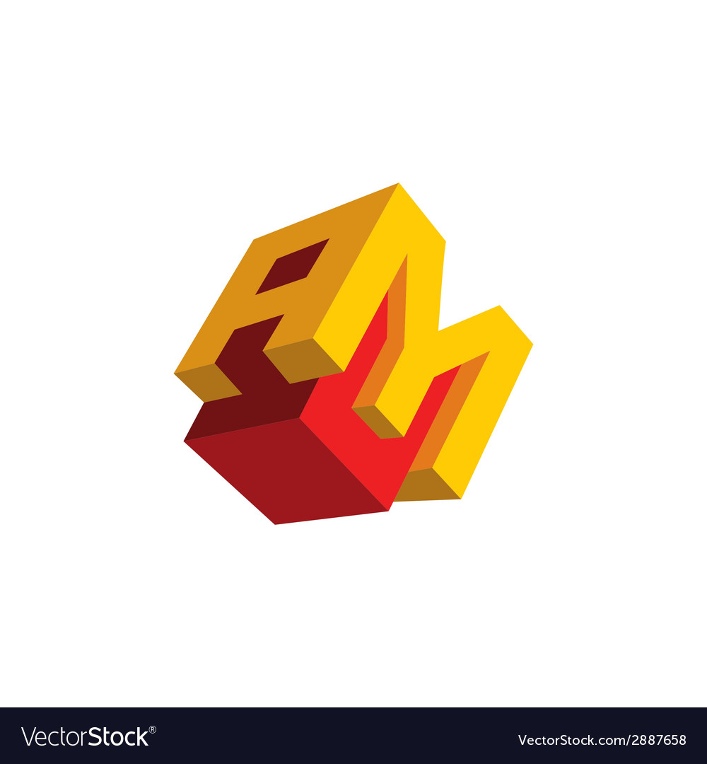 Sign the letter a and m vector | Price: 1 Credit (USD $1)