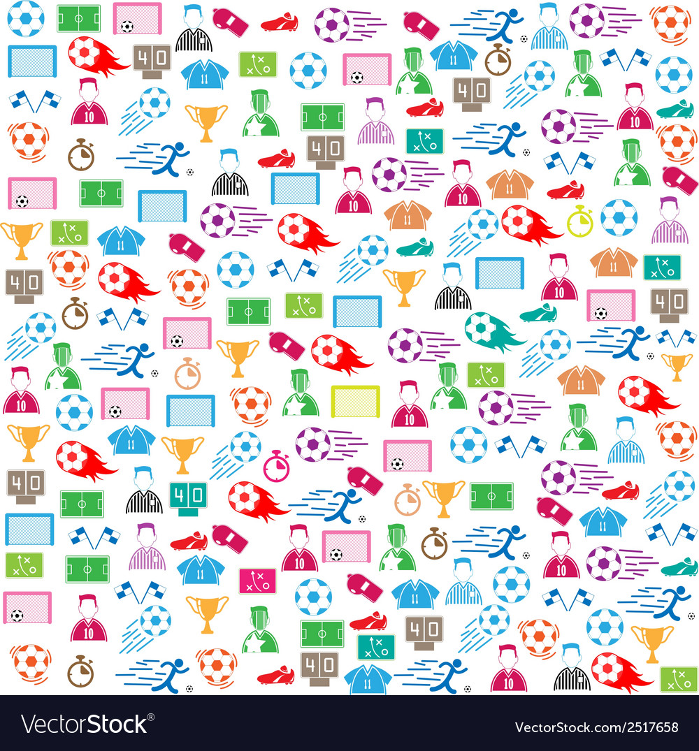 Soccer background icon color eps10 vector | Price: 1 Credit (USD $1)