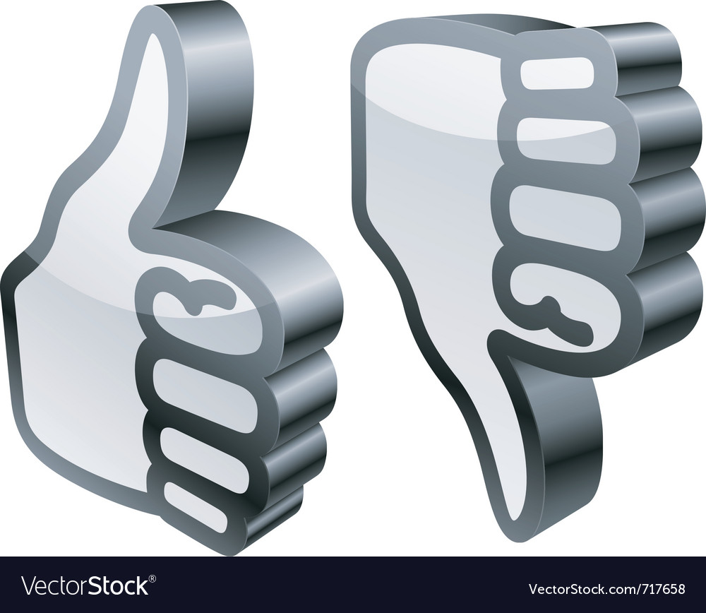 Thumbs up and down vector | Price: 3 Credit (USD $3)