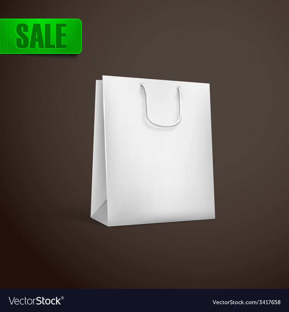 White shopping bag mock-up vector | Price: 1 Credit (USD $1)