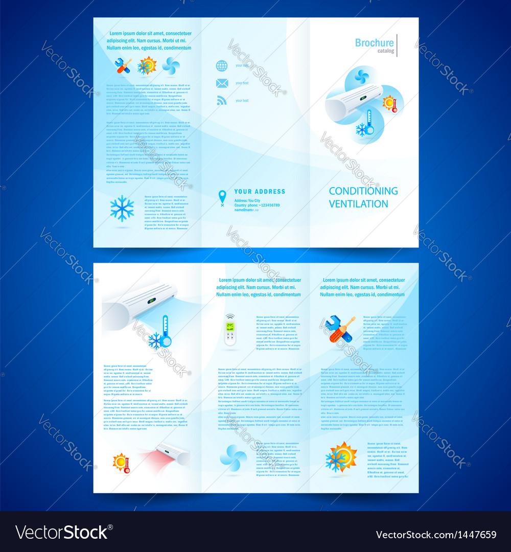 Brochure folder leaflet air conditioner vector | Price: 1 Credit (USD $1)