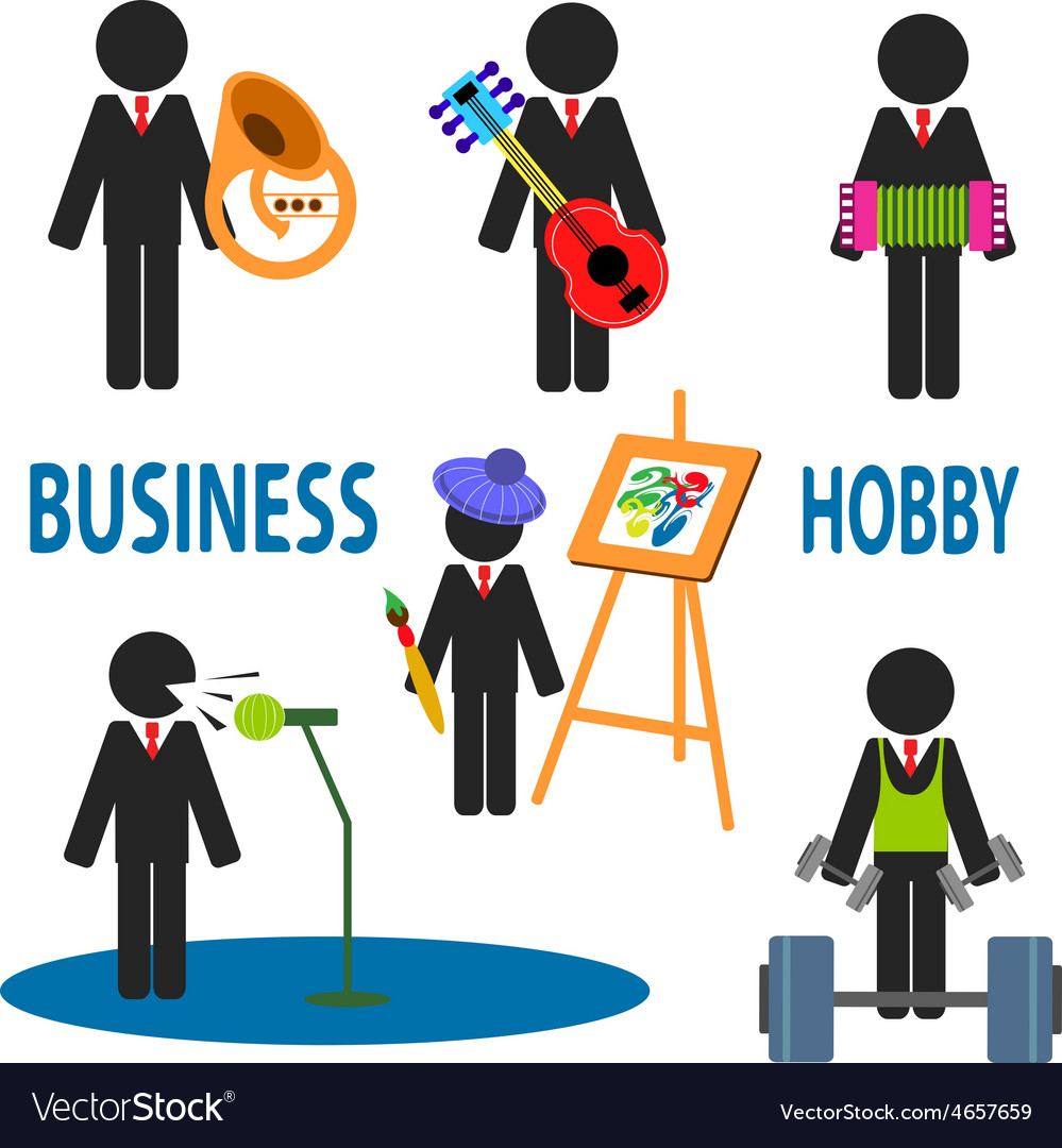 Business hobby vector | Price: 1 Credit (USD $1)