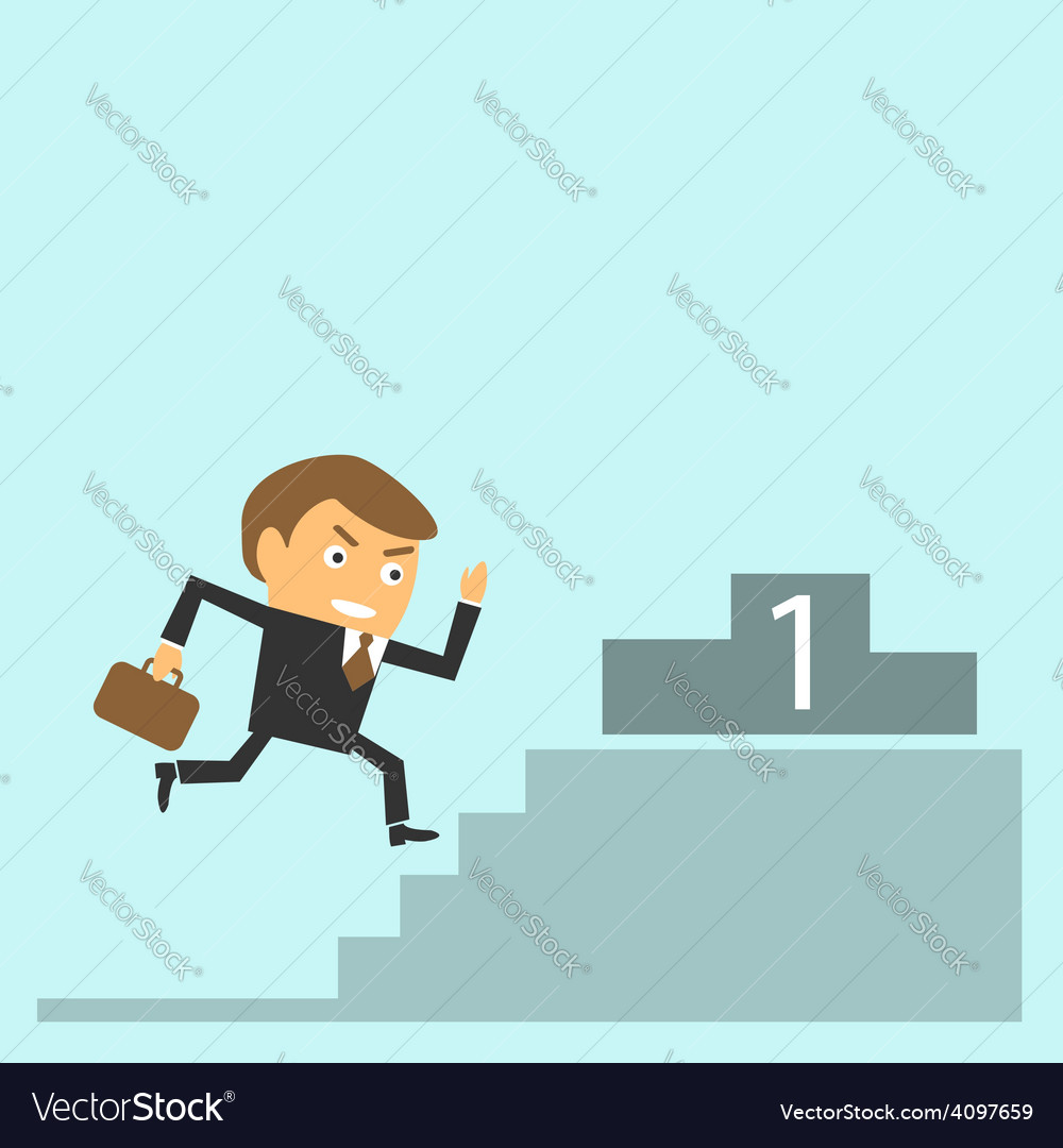 Businessman goes to success vector | Price: 1 Credit (USD $1)