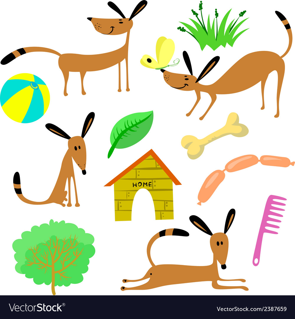 Dogs vector   Price: 1 Credit (USD $1)