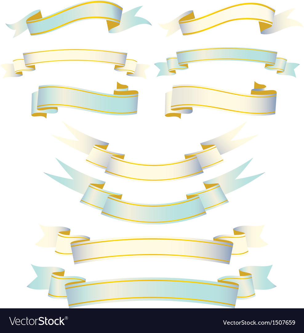 Elegant ribbon set vector | Price: 1 Credit (USD $1)