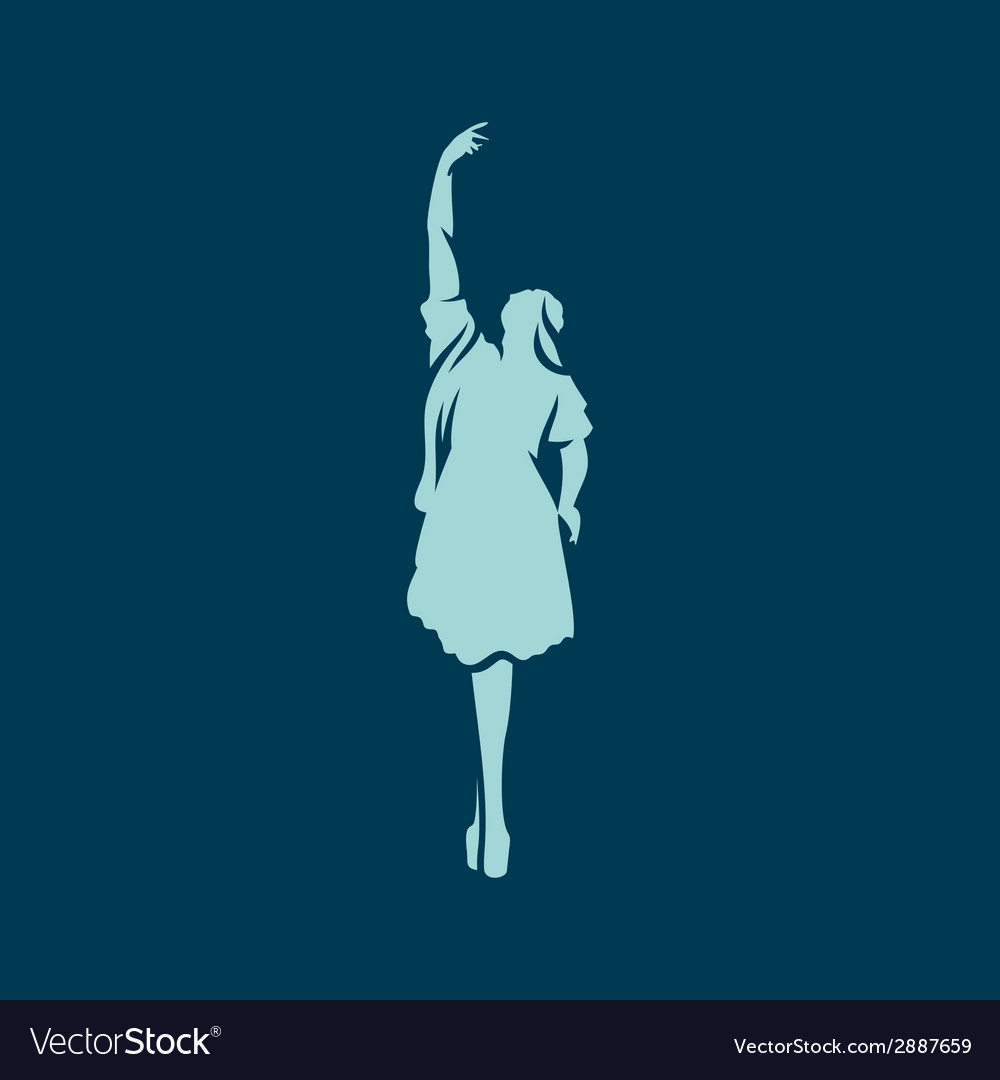 Girl ballerina dance vector | Price: 1 Credit (USD $1)
