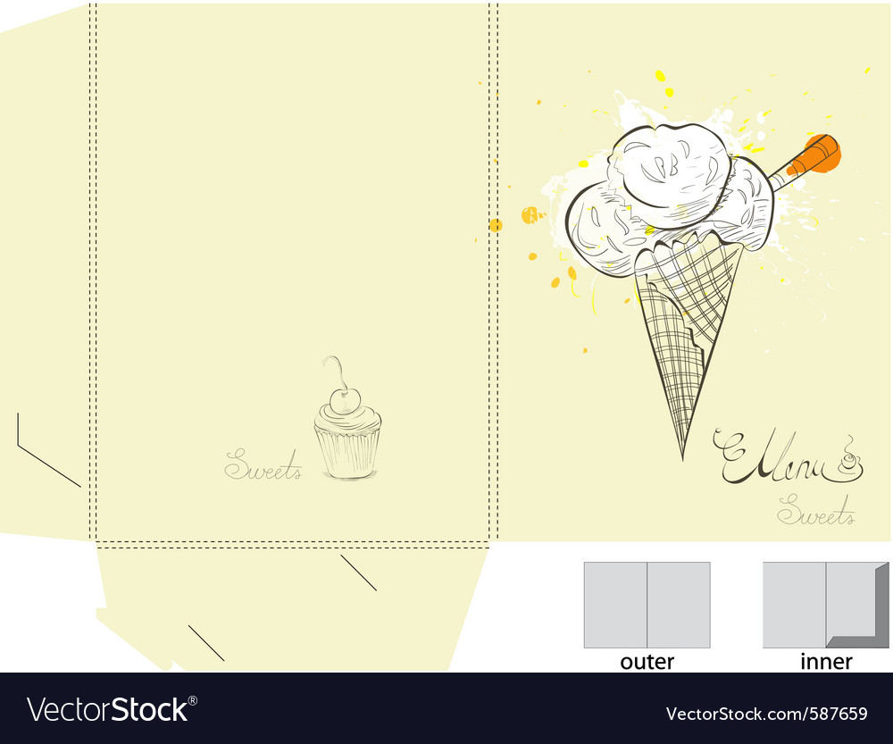 Ice cream folder template vector | Price: 1 Credit (USD $1)