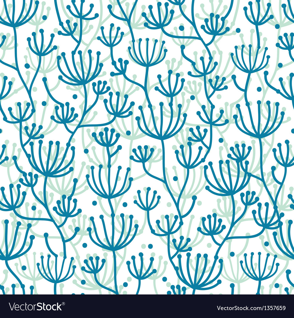 Lineart texture plants seamless pattern background vector | Price: 1 Credit (USD $1)