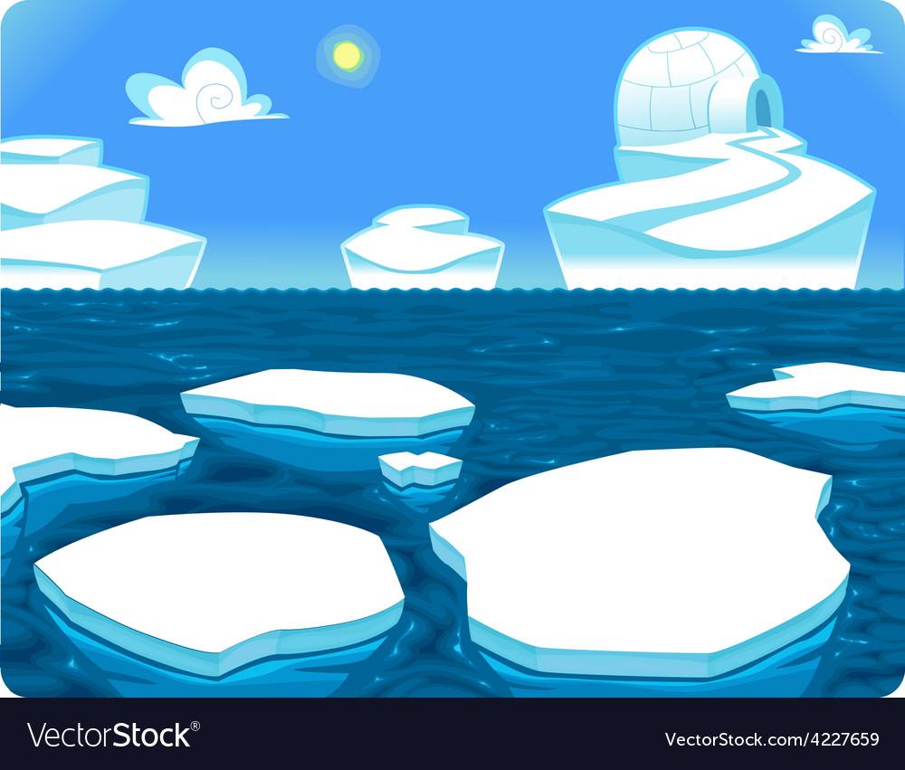 Polar scene vector | Price: 3 Credit (USD $3)