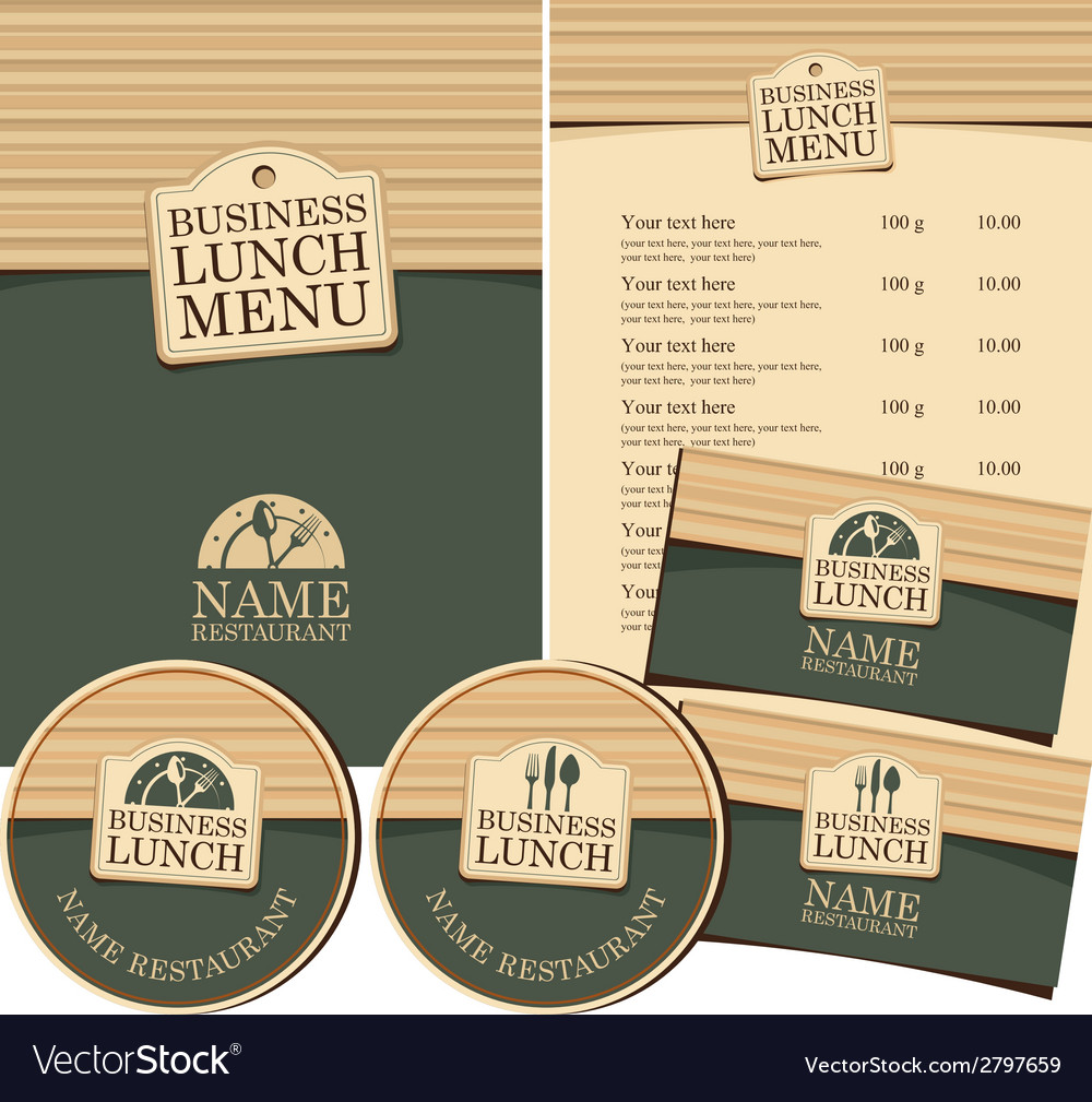 Restaurant set vector | Price: 1 Credit (USD $1)