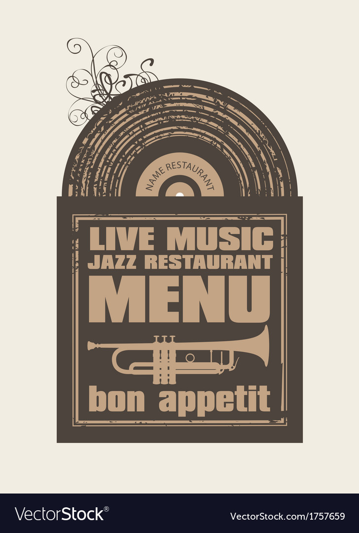 Restaurant with jazz music vector | Price: 1 Credit (USD $1)