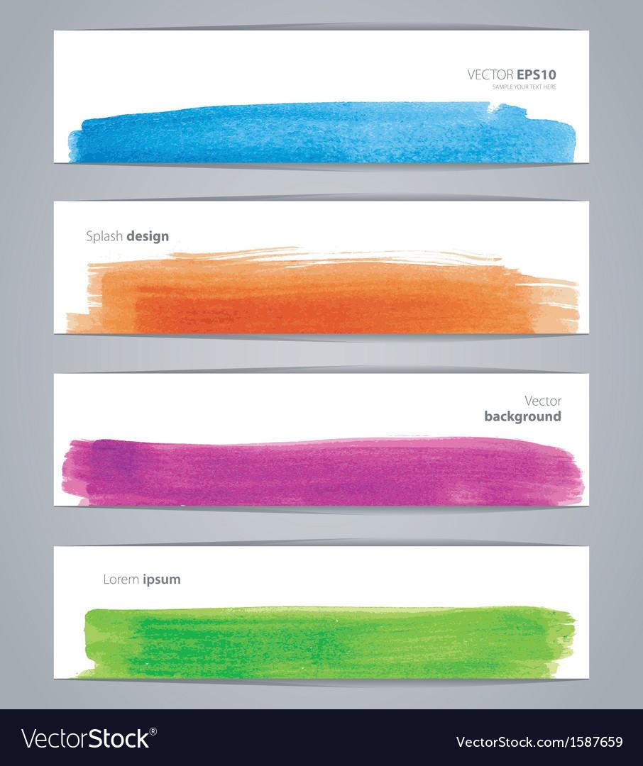 Watercolor design banners vector | Price: 1 Credit (USD $1)