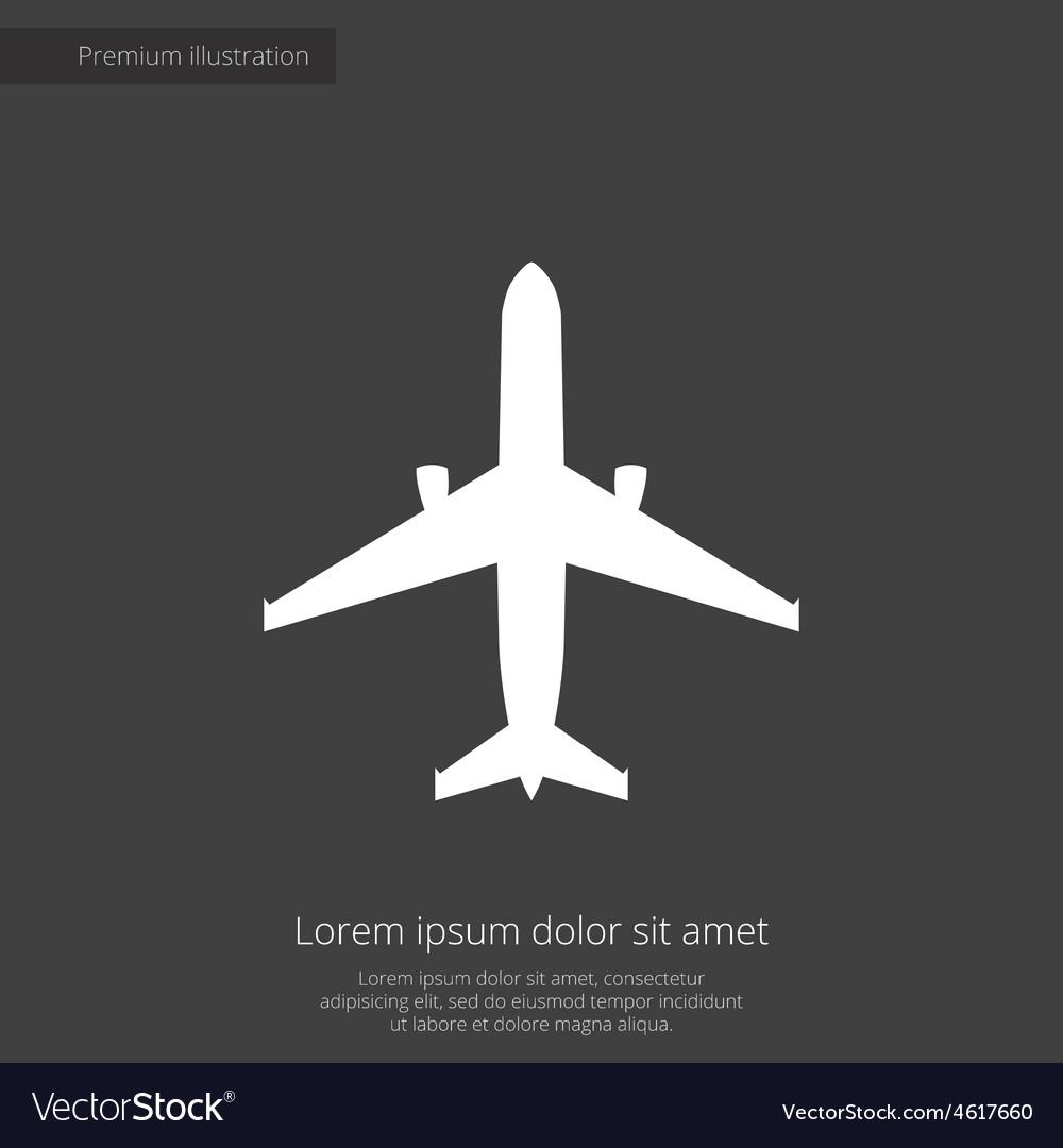 Airplane premium icon vector | Price: 1 Credit (USD $1)
