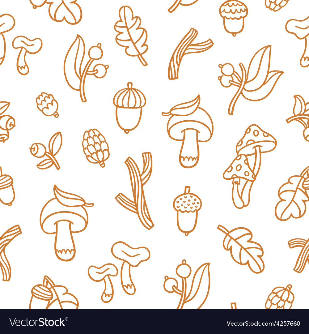Autumn forest pattern vector | Price: 1 Credit (USD $1)