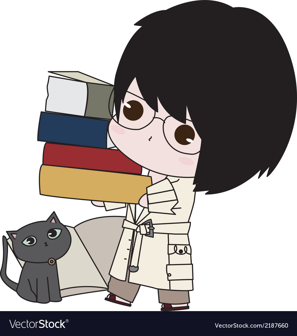 Boy with his books vector   Price: 1 Credit (USD $1)