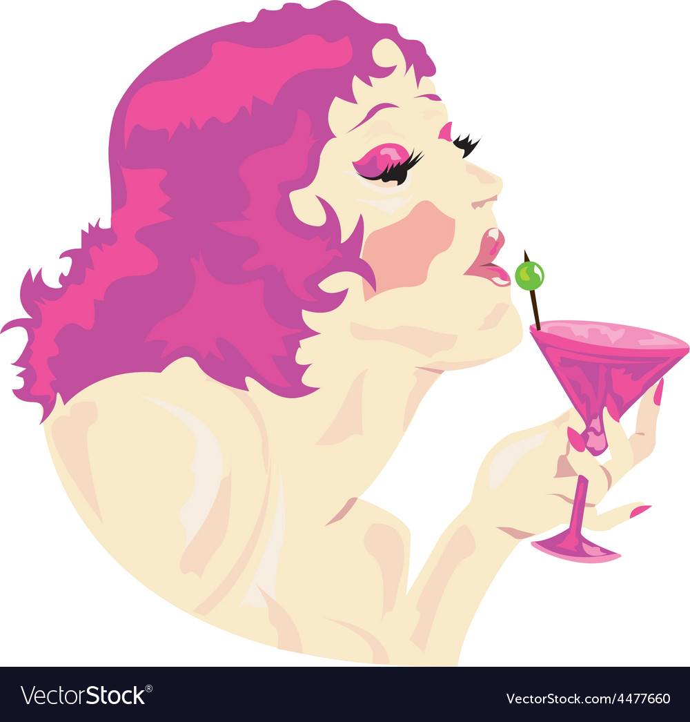 Cocktail lady design vector | Price: 1 Credit (USD $1)