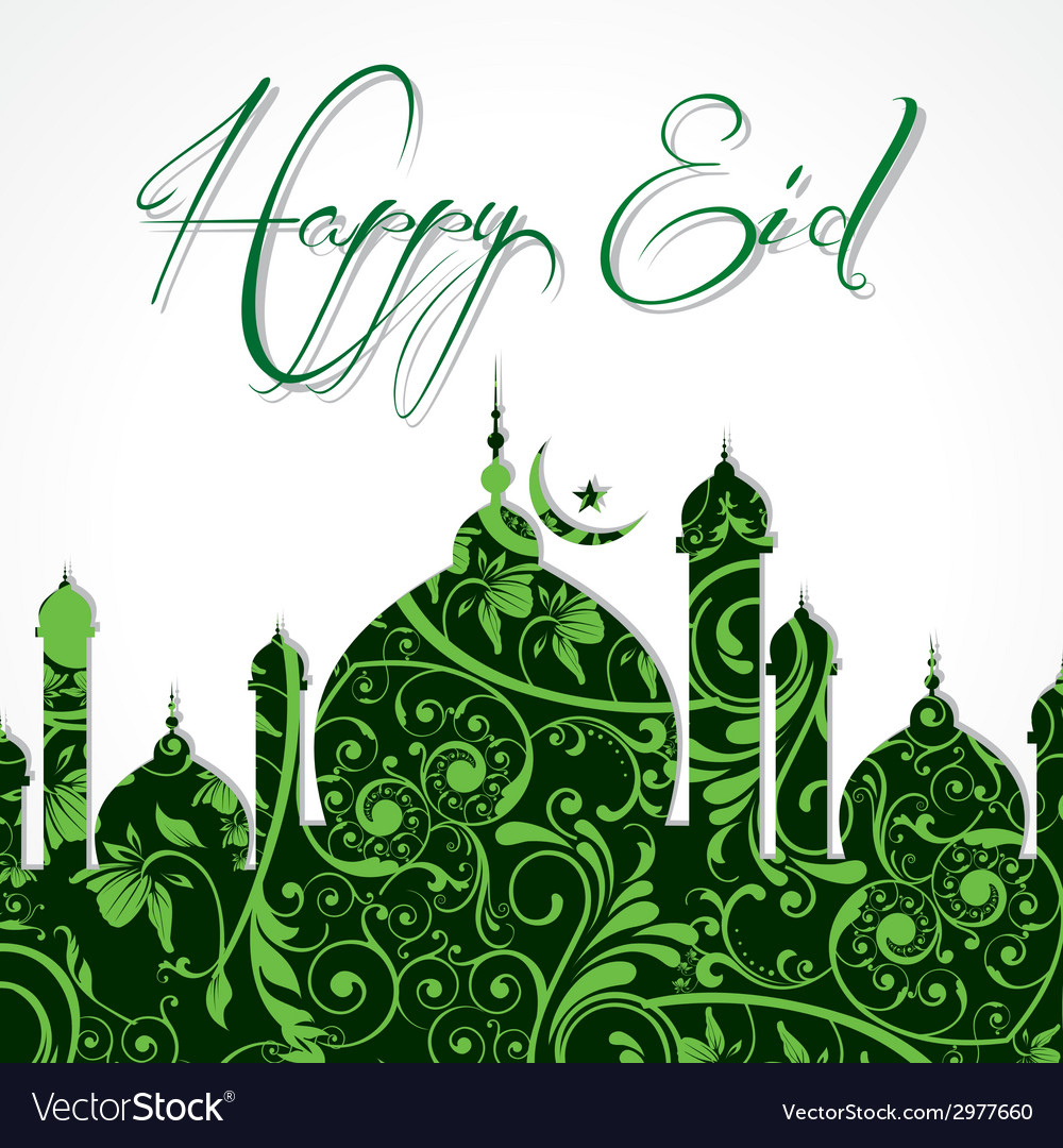 Creative eid greeting vector | Price: 1 Credit (USD $1)
