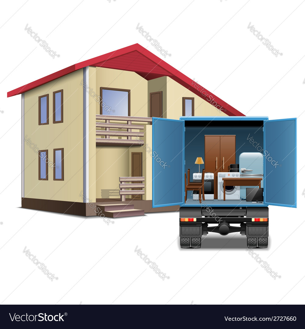 Furniture delivery vector | Price: 3 Credit (USD $3)
