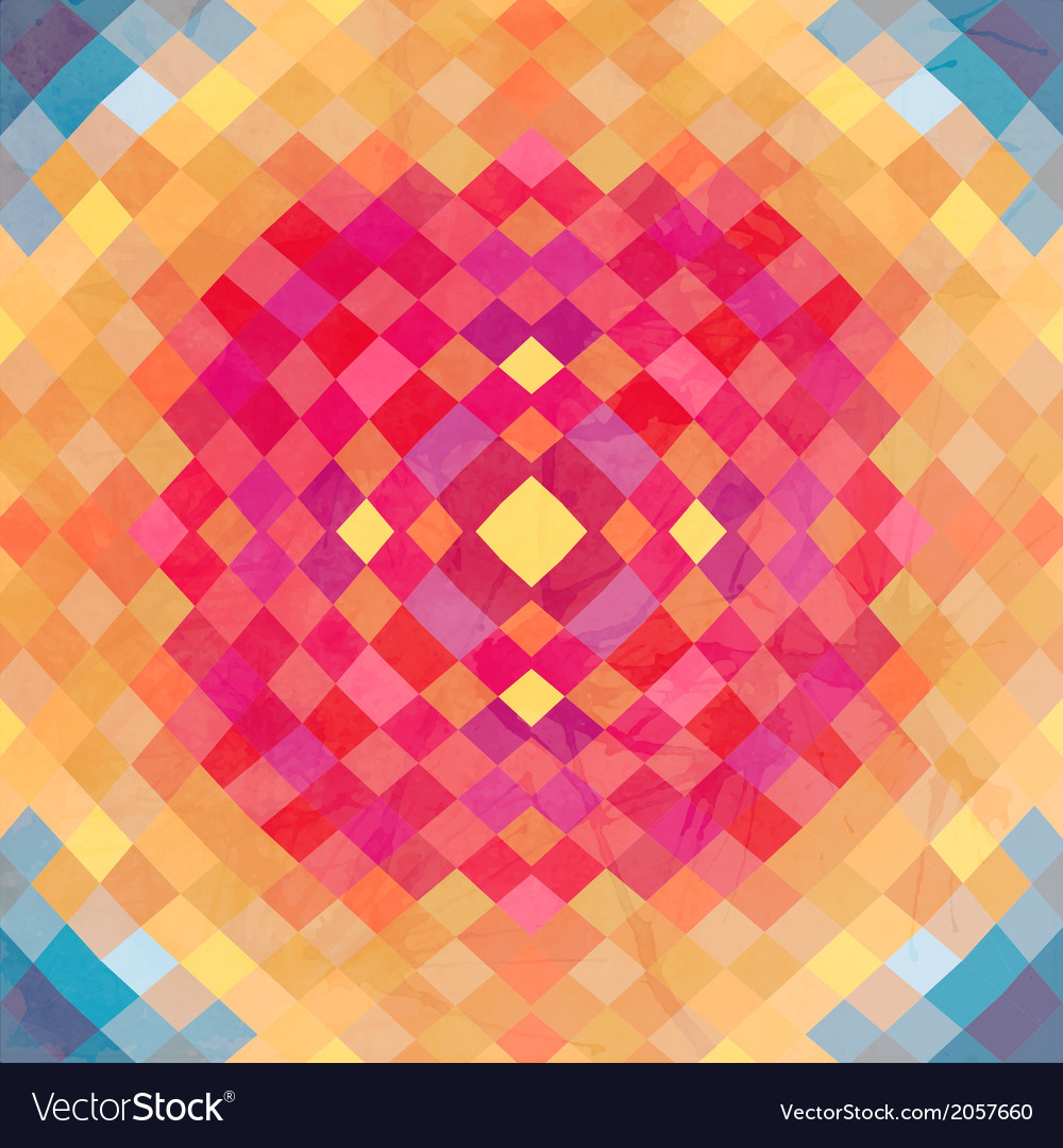 Geometric backdrop of geometric shapes colorful vector | Price: 1 Credit (USD $1)