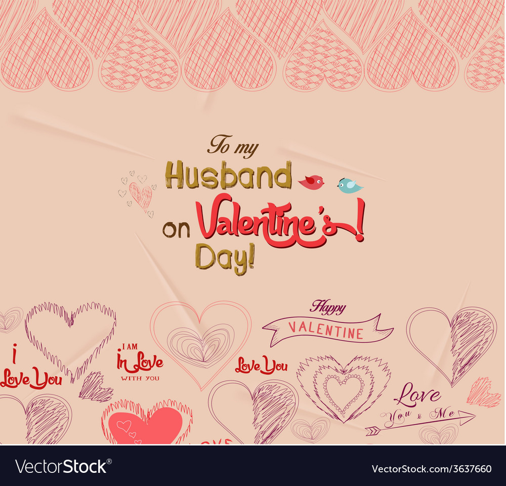 Happy valentines day greeting card 4 vector   Price: 1 Credit (USD $1)