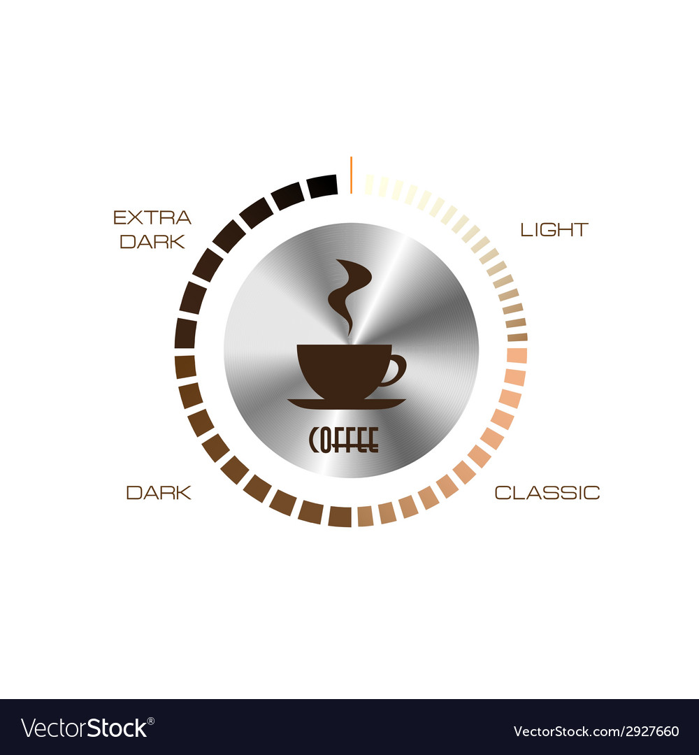 Level control of coffee vector | Price: 1 Credit (USD $1)