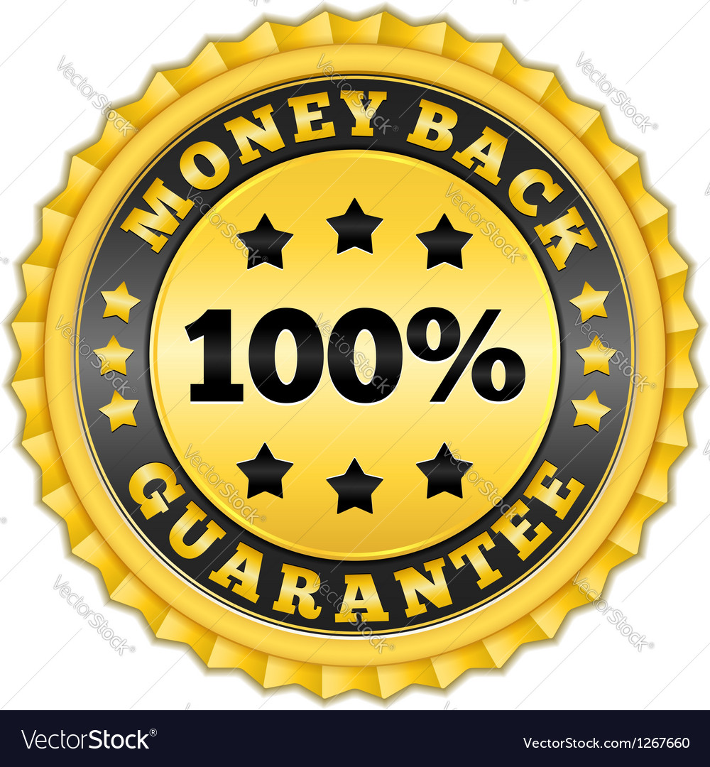 Money back guarantee golden label vector | Price: 1 Credit (USD $1)