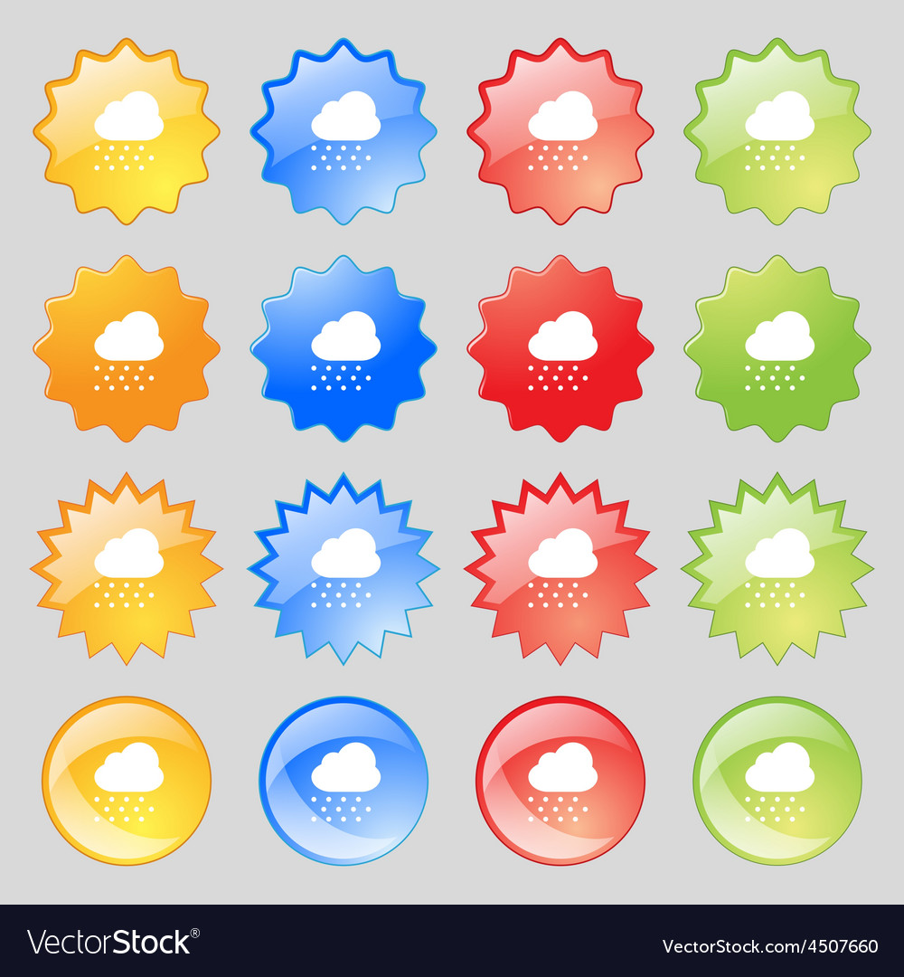 Snowing icon sign big set of 16 colorful modern vector   Price: 1 Credit (USD $1)