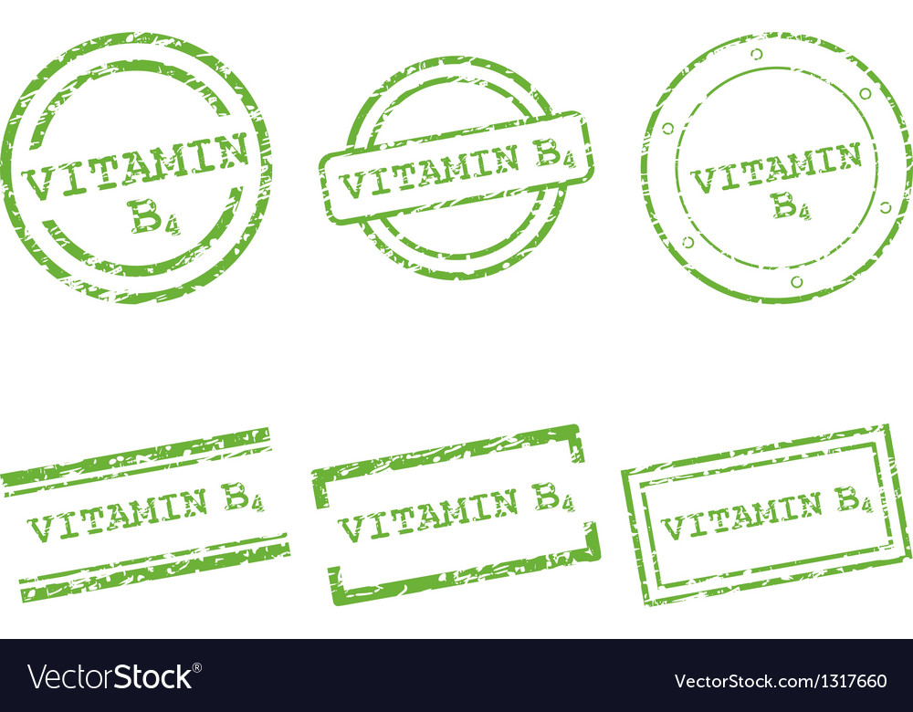 Vitamin b4 stamps vector | Price: 1 Credit (USD $1)