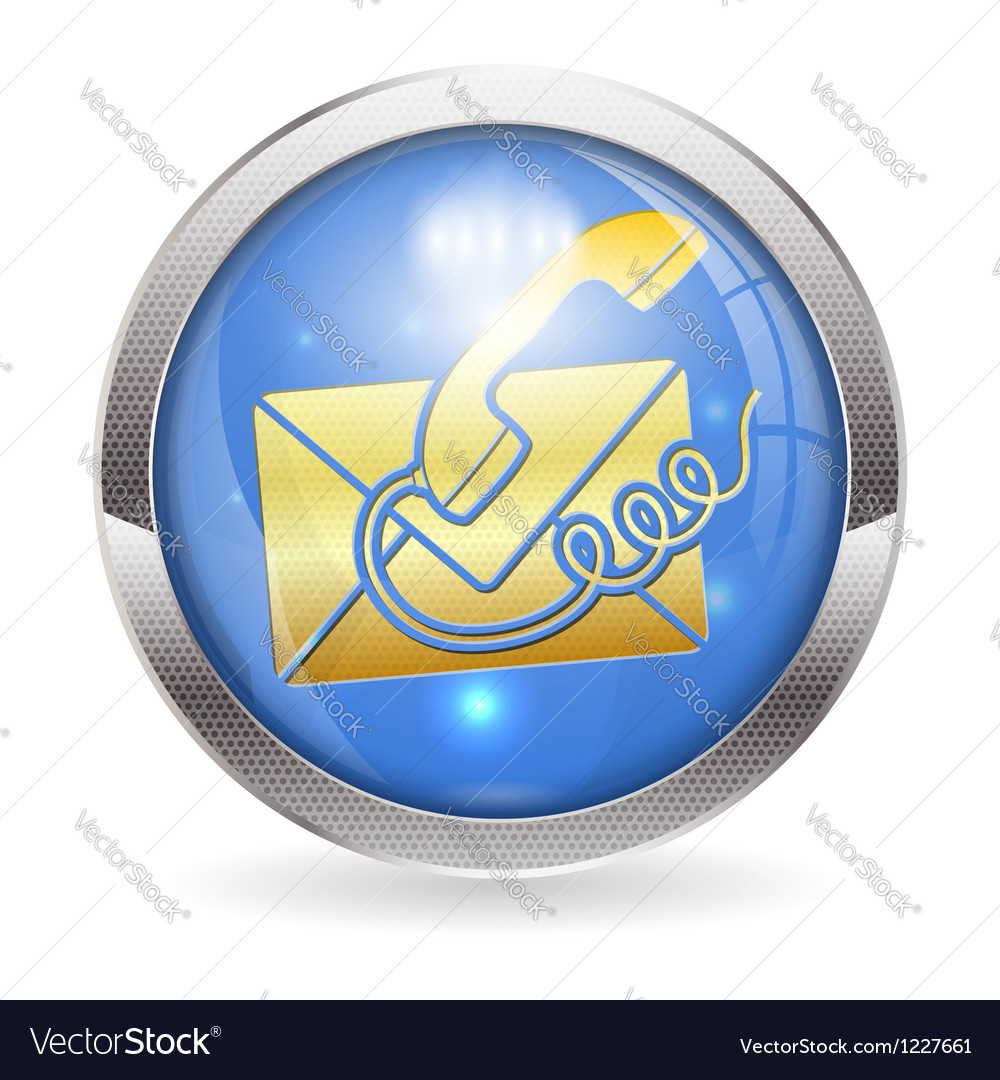 Button contact us vector | Price: 1 Credit (USD $1)