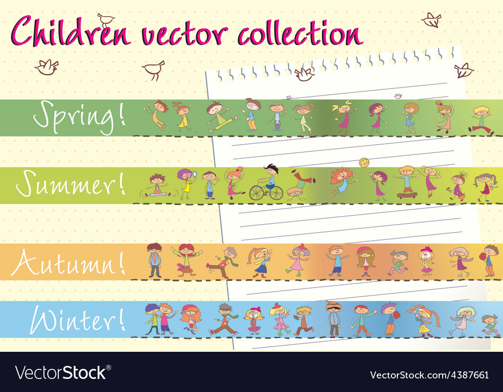 Children collection vector | Price: 1 Credit (USD $1)