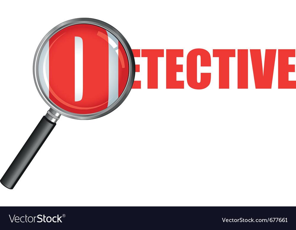 Detective vector | Price: 1 Credit (USD $1)