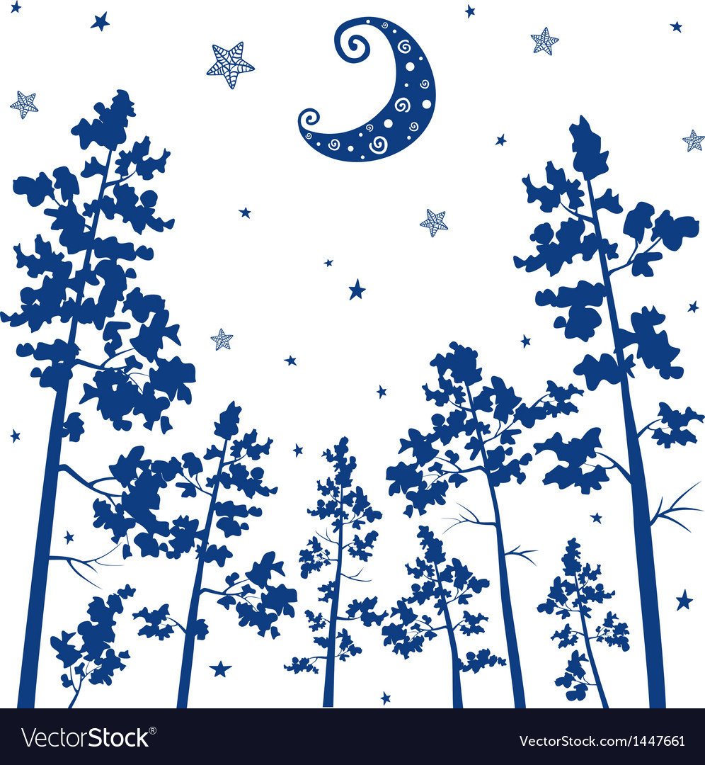 Forest silhouette vector | Price: 1 Credit (USD $1)