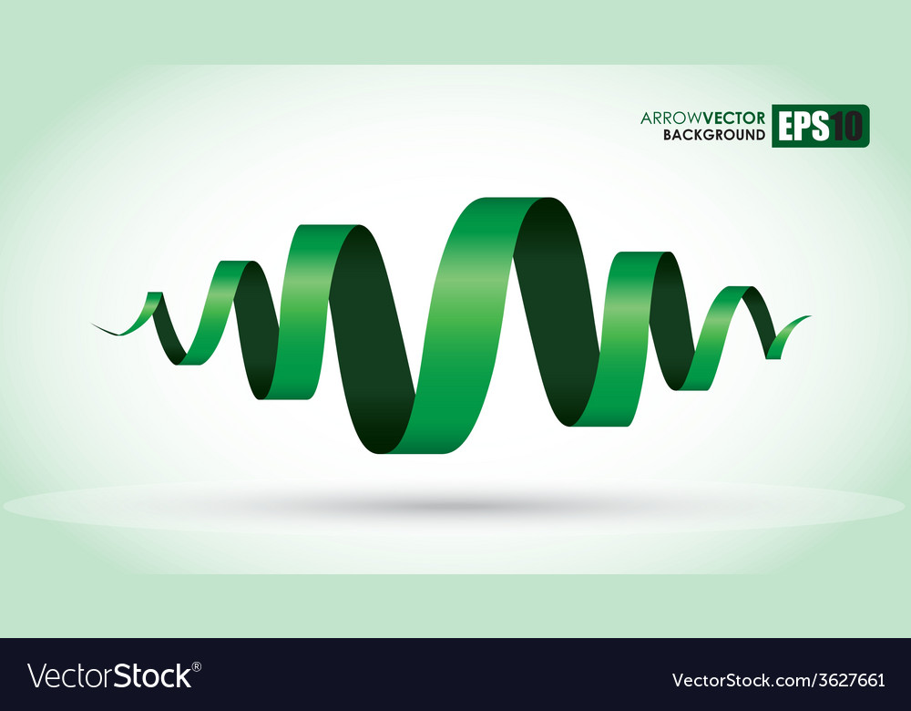 Green spiral vector | Price: 1 Credit (USD $1)