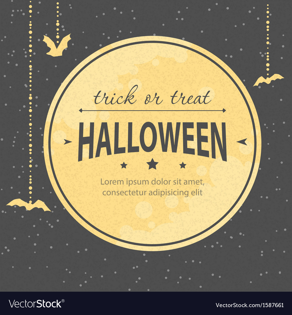 Halloween invitation vector | Price: 1 Credit (USD $1)