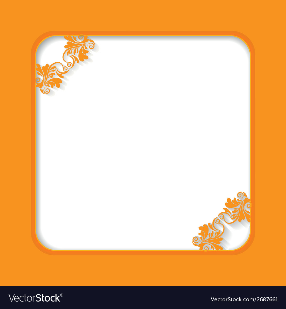 Orange frame vector | Price: 1 Credit (USD $1)