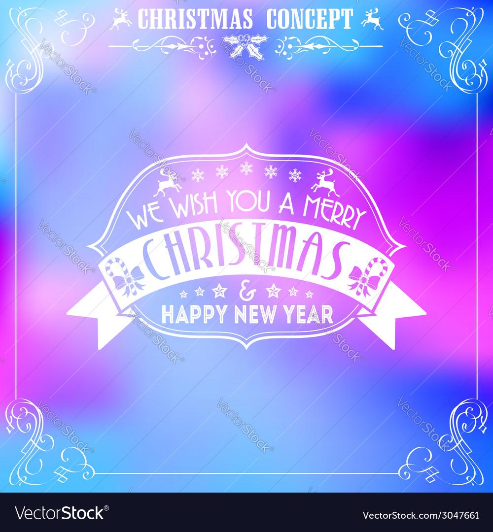Retro christmas frame vector | Price: 1 Credit (USD $1)