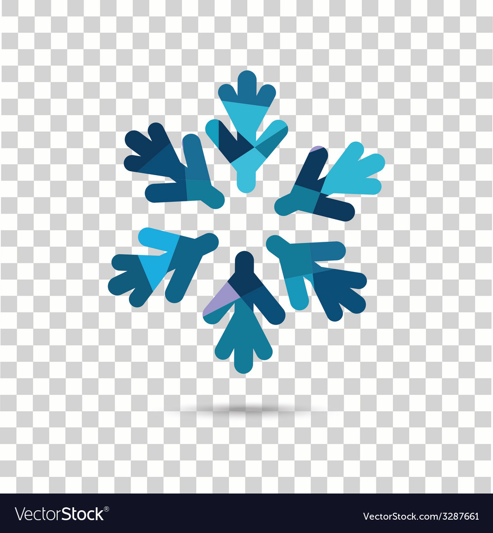 Snowflake vector | Price: 1 Credit (USD $1)