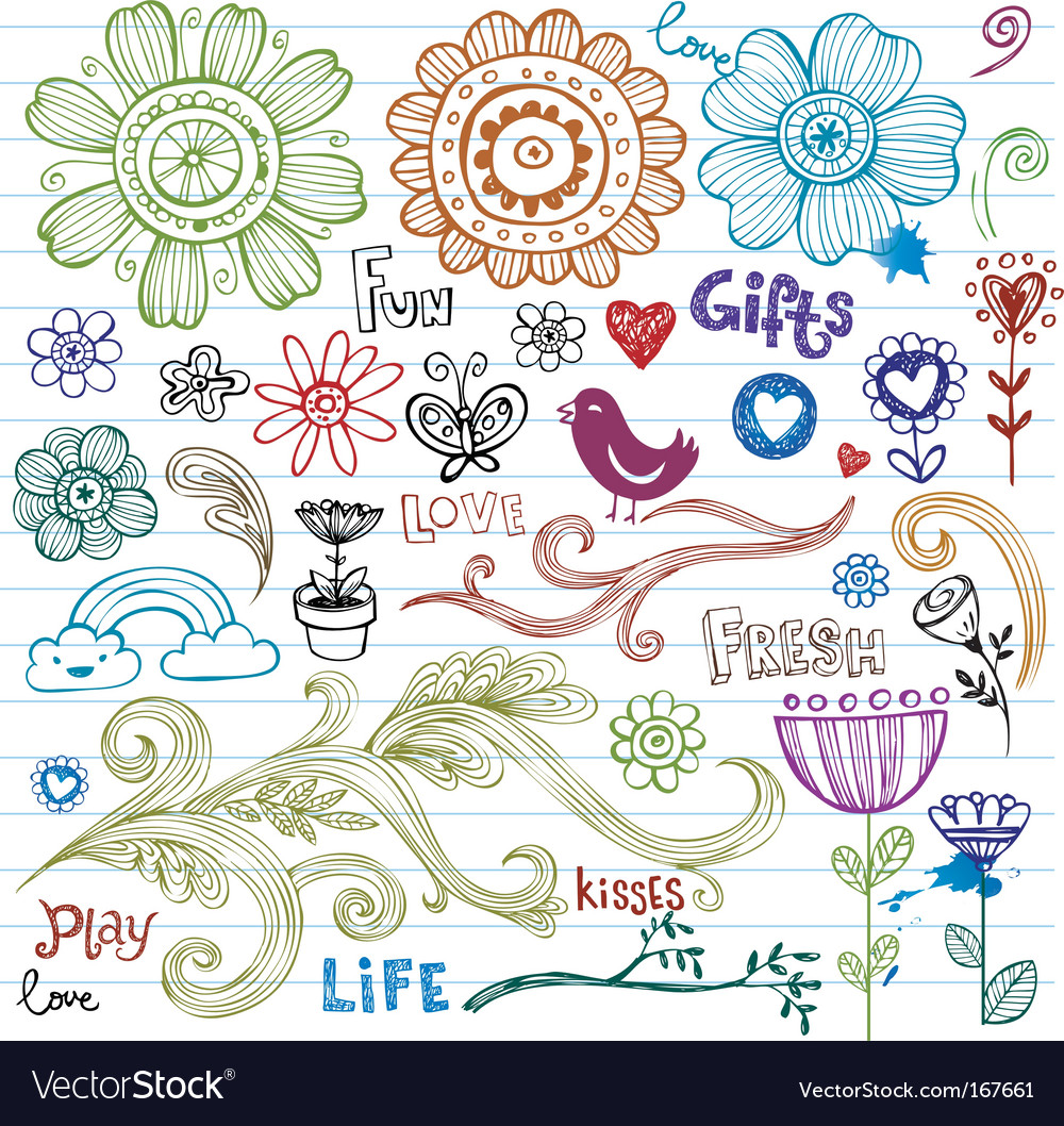 Spring doodles vector | Price: 1 Credit (USD $1)