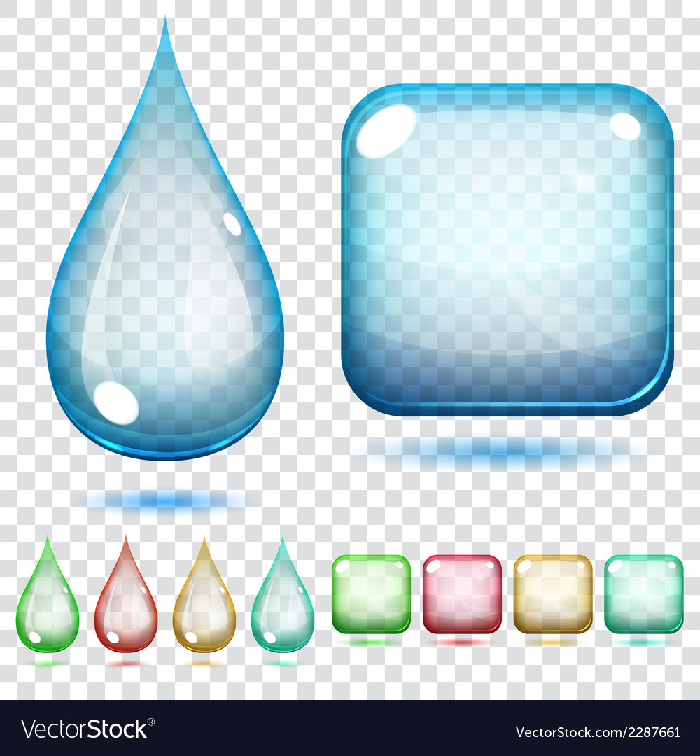 Transparent glass shapes vector | Price: 1 Credit (USD $1)