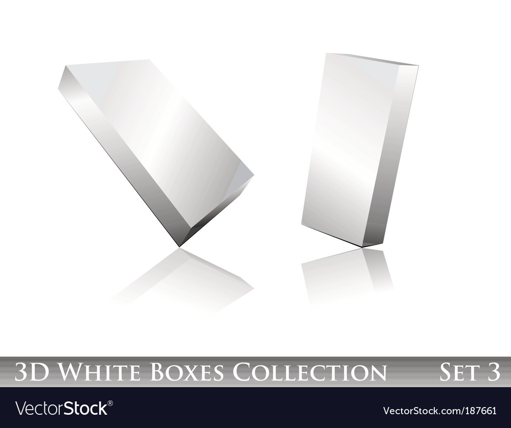 White boxes icon set vector | Price: 3 Credit (USD $3)