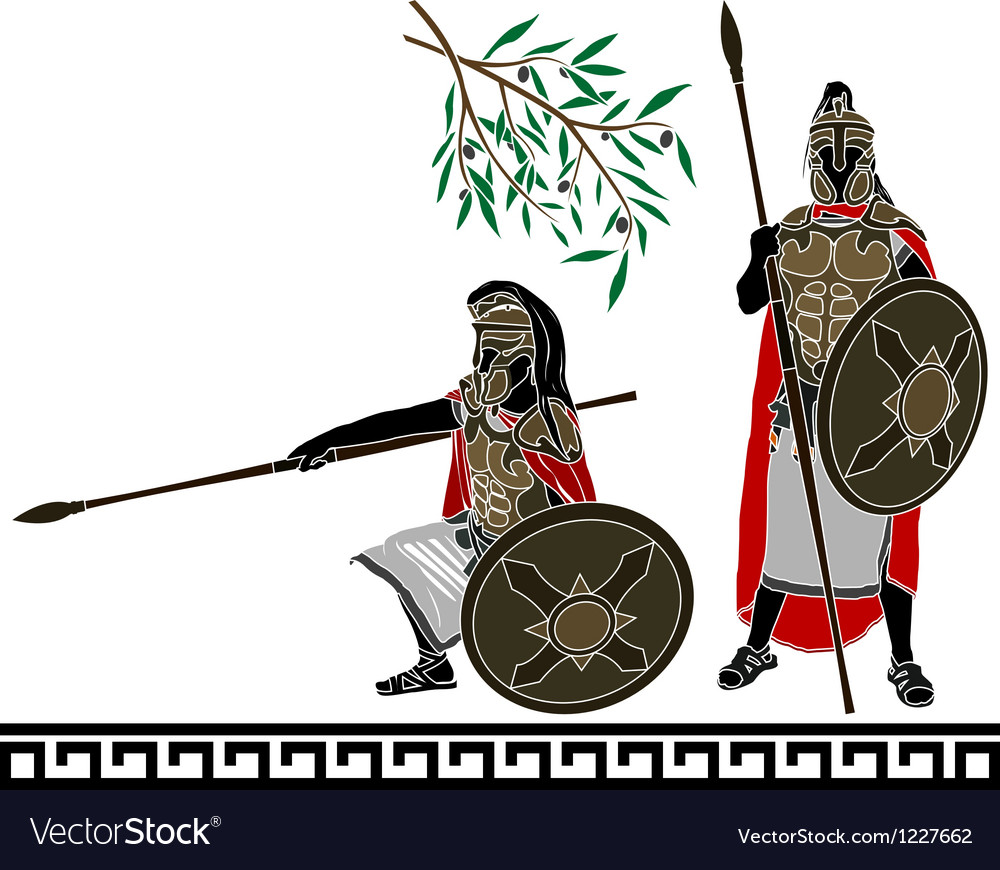 Ancient hellenic warriors second variant vector | Price: 1 Credit (USD $1)