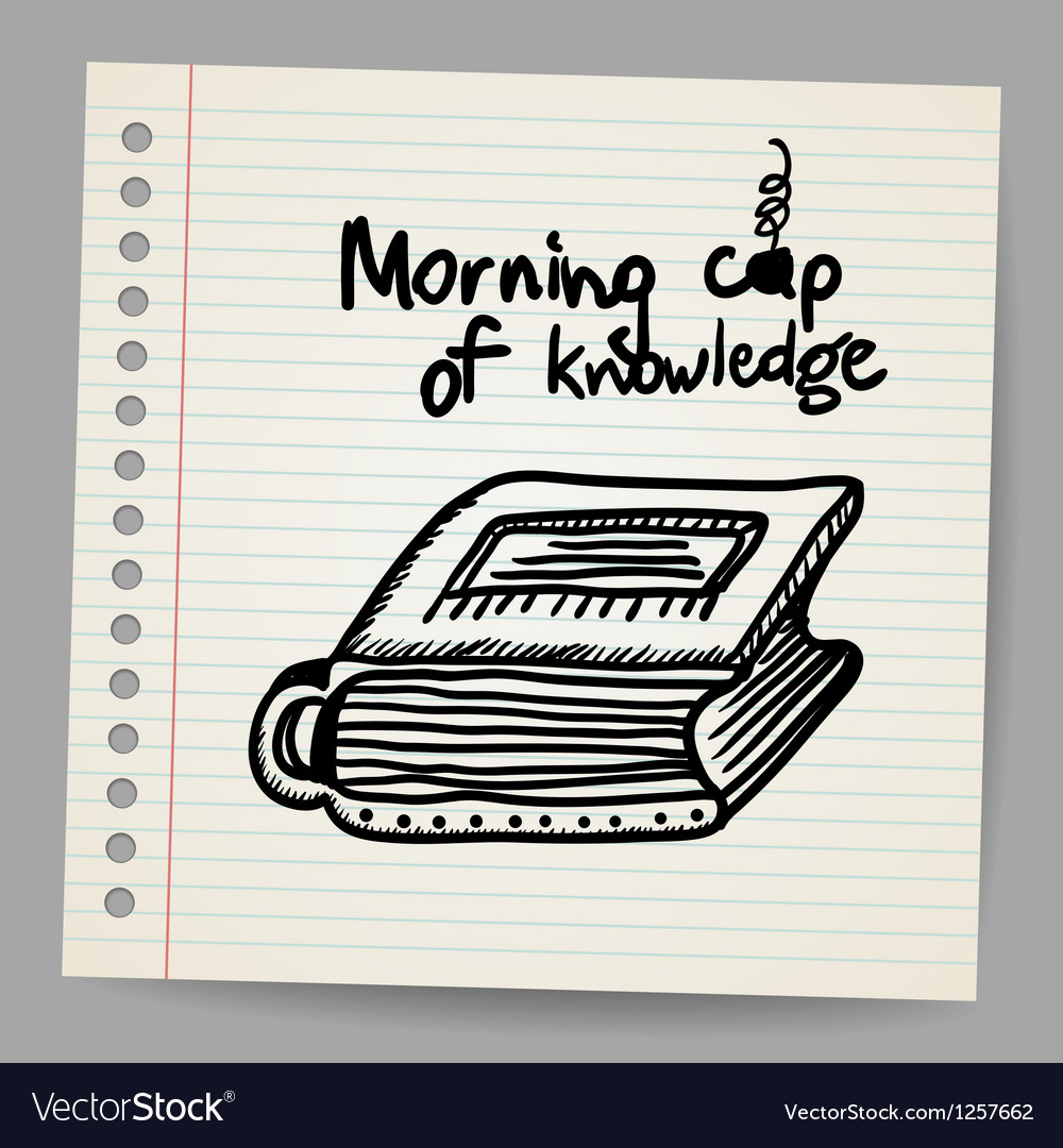 Book-cup doodle concept vector | Price: 1 Credit (USD $1)