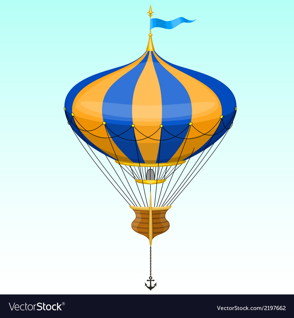 Cartoon air balloon vector | Price: 1 Credit (USD $1)